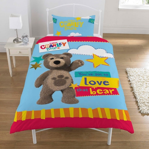 Little Charley Bear Panel Single Bed Duvet Quilt Cover Set