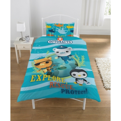 Octonauts Explore Rescue and Protect Panel Single Bed Duvet Quilt Cover Set