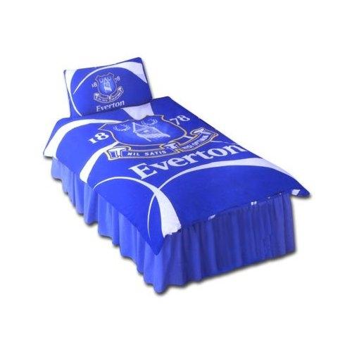 Everton Swirl Fc Football Panel Official Single Bed Duvet Quilt Cover Set