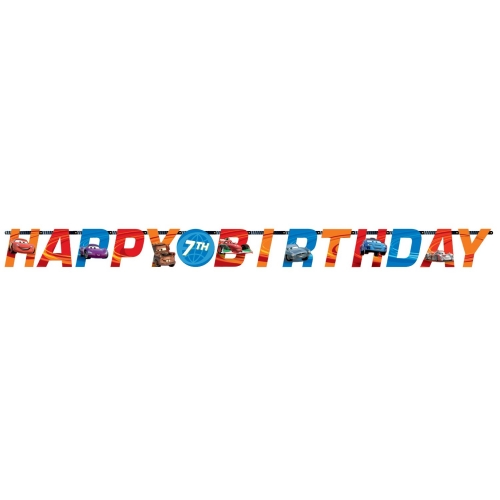 Disney Cars Custom Happy Birthday Letter Banner Party Accessories