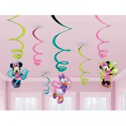 Disney Minnie Mouse Bow Tique Swirl Decorations Party Accessories 0013051401641