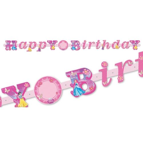 Disney Princess Custom Happy Birthday Letter Banner Party