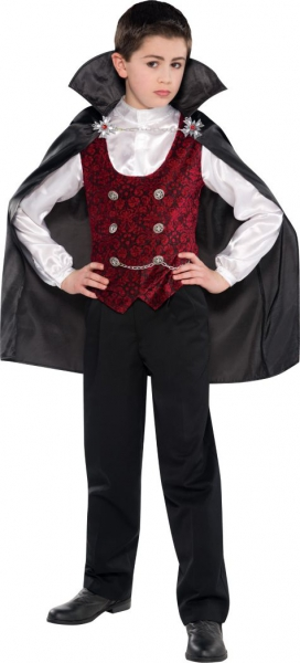 Dark Vampire 8-10 Years Costume