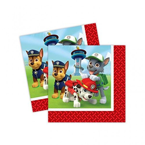 Nickelodeon Paw Patrol 20 Pack Napkins Party Accessories