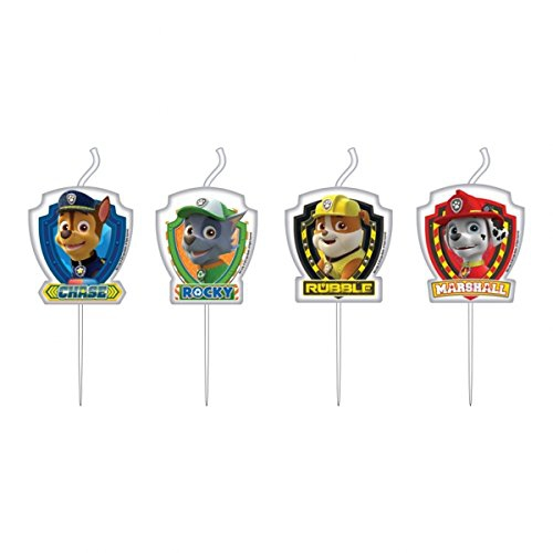 Nickelodeon 'Paw Patrol' 4 Pack Candles Party Accessories