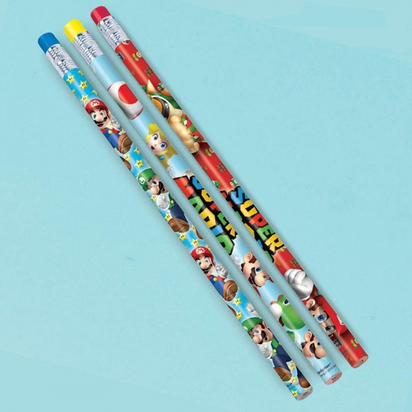 Super Mario '12 Piece' Pencil Stationery