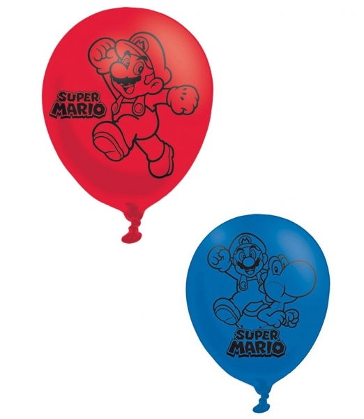 Super Mario 'Red & Blue' 6 Pack Balloon Party Accessories