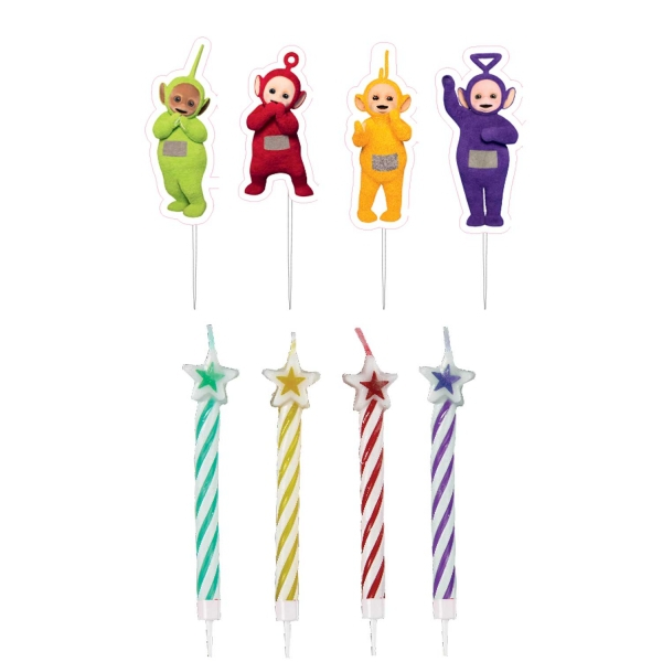 Teletubbies 4 Pack Candles Party Accessories