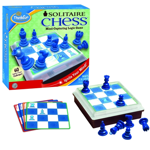 Solitaire Chess Board Game Puzzle