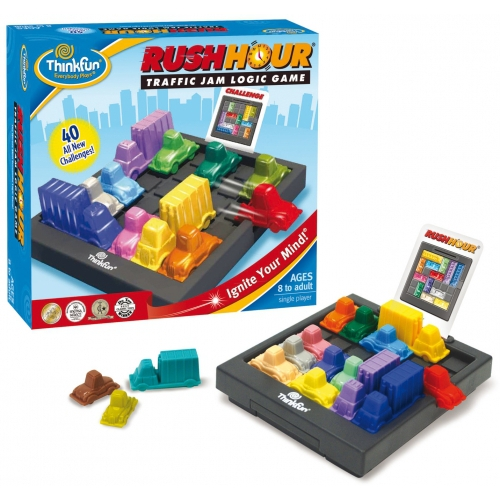 Rushhour Traffic Jam Game Board Puzzle