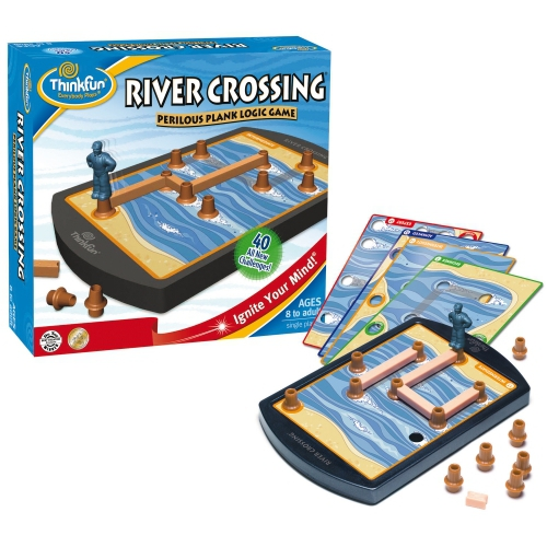 River Crossing Perilous Plank Logic Game Board Puzzle