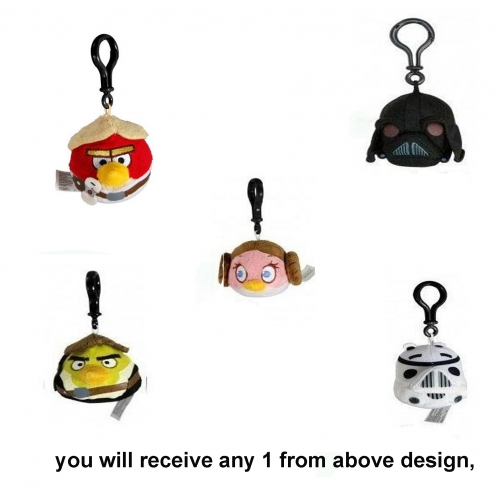 Angry Birds Star Wars 'Han Solo, Lukesky Walker, Princess Leia, Pigtrooper, Darth Vader' 3 inch Ass