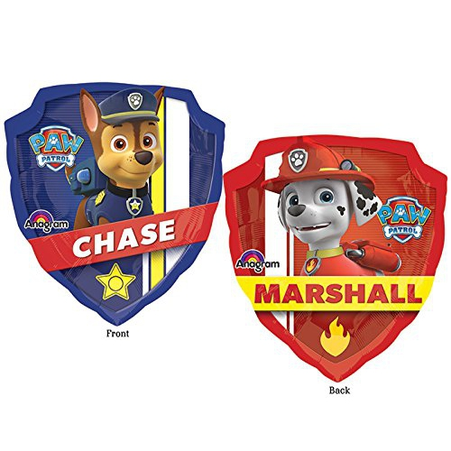 Nickelodeon Paw Patrol 'Chase & Marshall' 27 inch Balloon Party Accessories