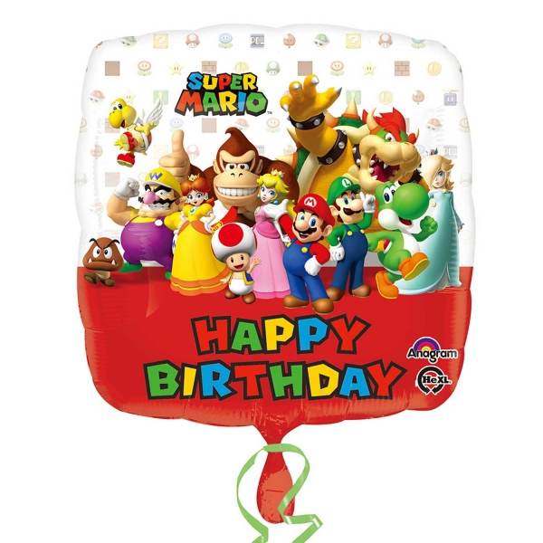 Super Mario 'Square' 17 inch Balloon Party Accessories