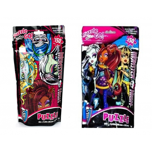 Monster High 'In a Bag' Assorted 150 Piece Jigsaw Puzzle Game