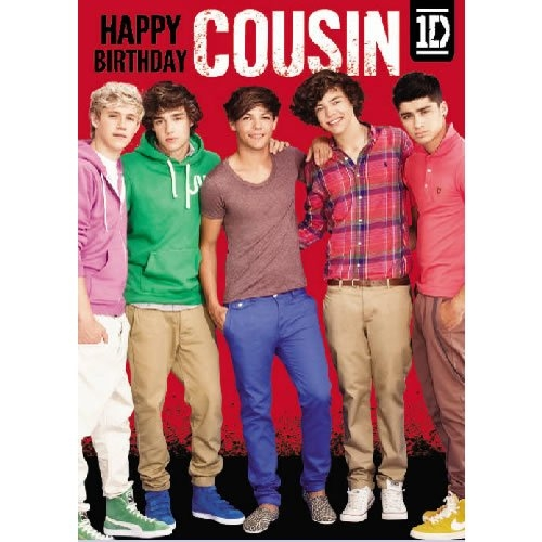 One Direction Cousin Birthday Card Greetings Cards 0089923173756