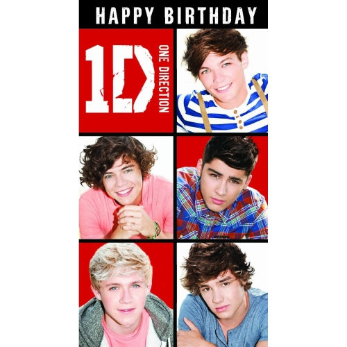 One Direction General Birthday Card Greetings Cards 0089923173770