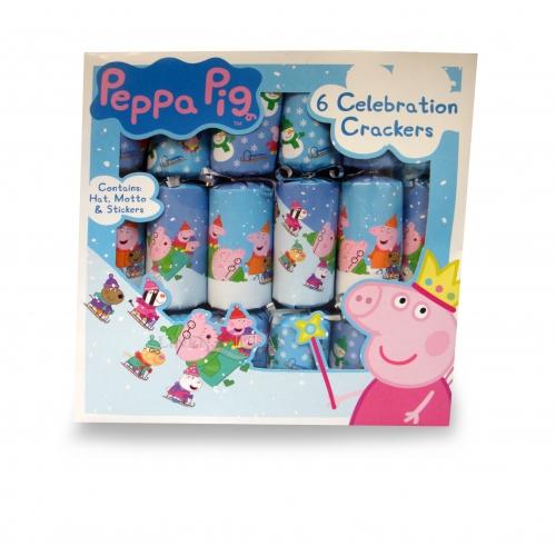 Peppa Pig 6 Celebration Crackers Christmas