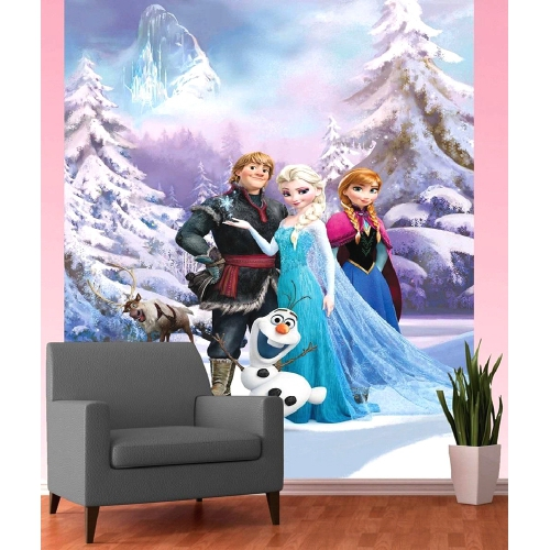 Disney Frozen Anna, Elsa & Olaf 'Deco Mural' Wall Paper Decoration