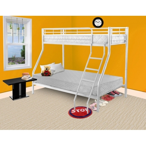 Todd Linens Triple Bed White Single Frame