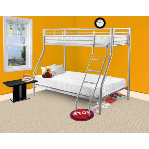 Todd Linens Triple Bed Silver Single Frame