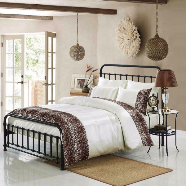 Tiger Cream 6 Piece Luxury Complete Set Bedding King Duvet Cover
