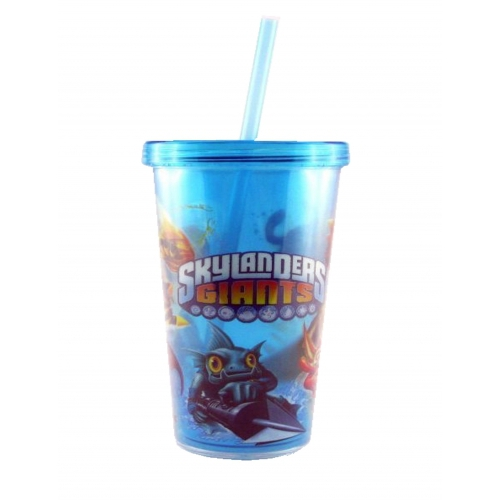 Skylanders Giants Large Tumbler with Lid and Straw Printed