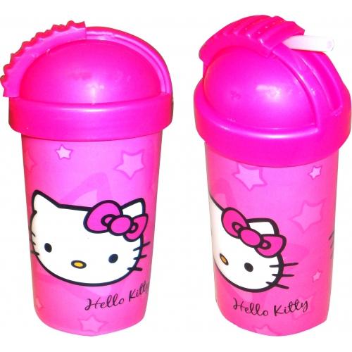 Hello Kitty Flip Top Flask Bottle