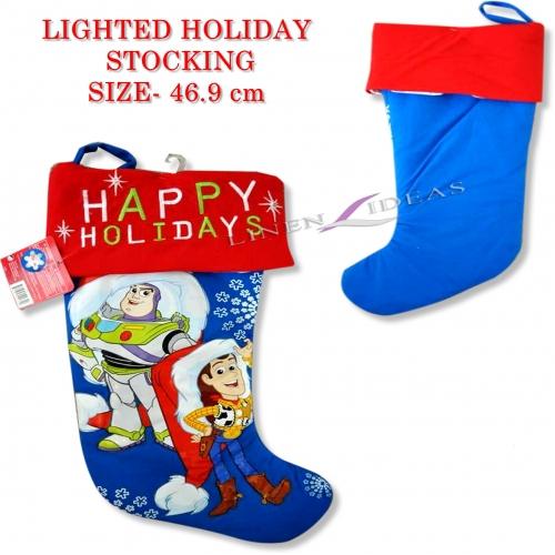 Disney Toy Story Lighted 'Happy Holidays' Xmas Stocking Christmas
