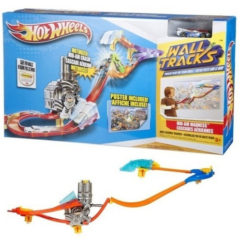 Hot Wheels Mid Air Madness Track Set Toy