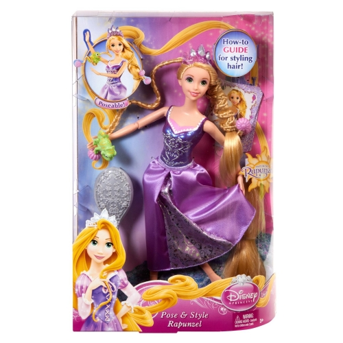 Disney Tangled Rapunzel 'Hairplay Pose and Style' Doll Toy