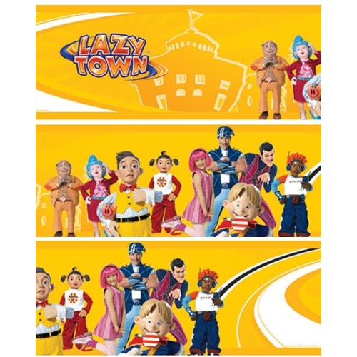 Lazy Town Border Wall Decoration