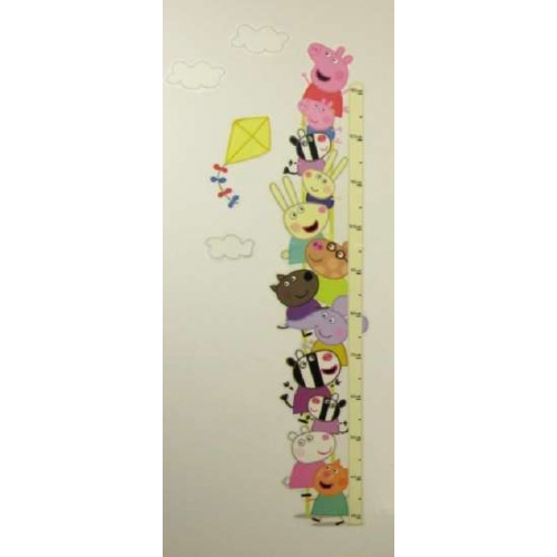 Peppa Pig Wall Height Chart Sticker Decoration