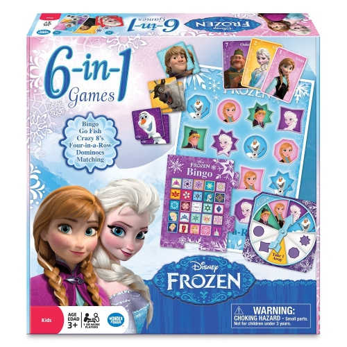 Disney Frozen 'Classic' 6 In 1 Board Games Game