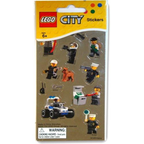 Lego City 'Metallic' Stickers Decoration