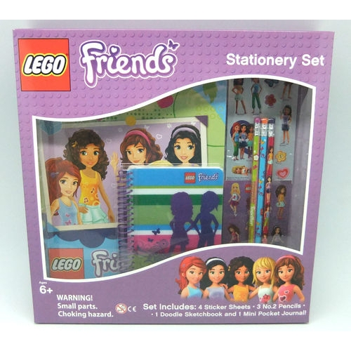 Lego Friends 9 Piece Boxed Stationery Set