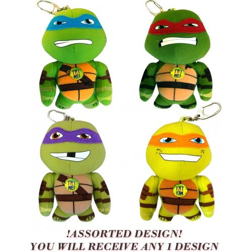 Teenage Mutant Ninja Turtles 'Leonardo, Donatello, Raphael and Michelangelo' Assorted Bag Buddies 5