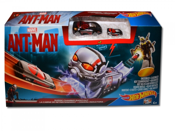 Hot Wheels Marvel Ant-man 'Shrink Chamber Shoot-out' Track Set Toy