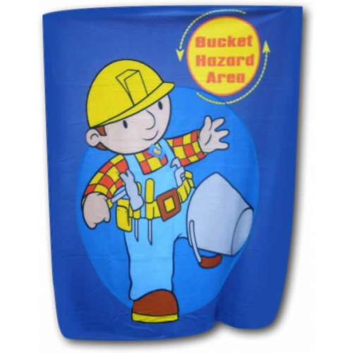 Bob The Builder Bucket Hazard Panel Fleece Blanket Throw