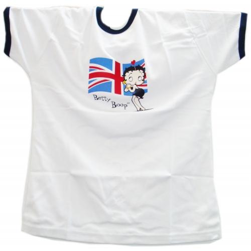 Betty Boop White Uk Flag M T Shirt