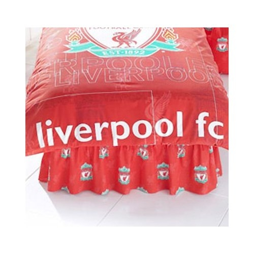 Liverpool Fc Football Valance Sheet Official Double Bed