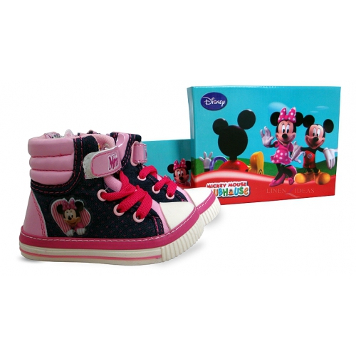 Disney Minnie Mouse Boots Baby Uk: 7 & Eur: 24 Shoes