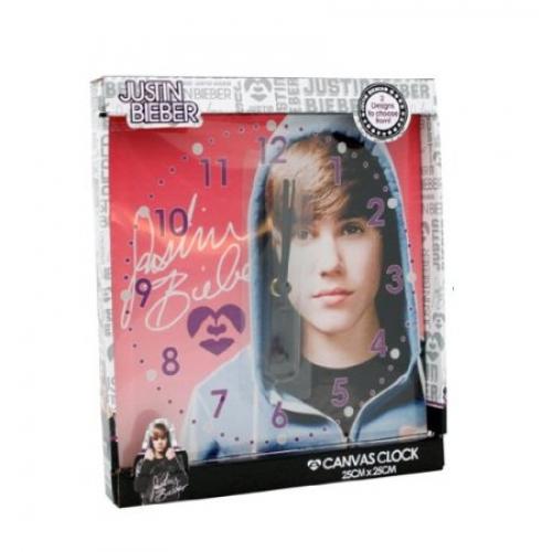 Justin Bieber Hooded Canvas Wall Clock