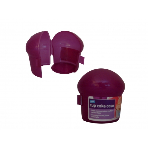 Berry Pink Plastic Cupcake Case