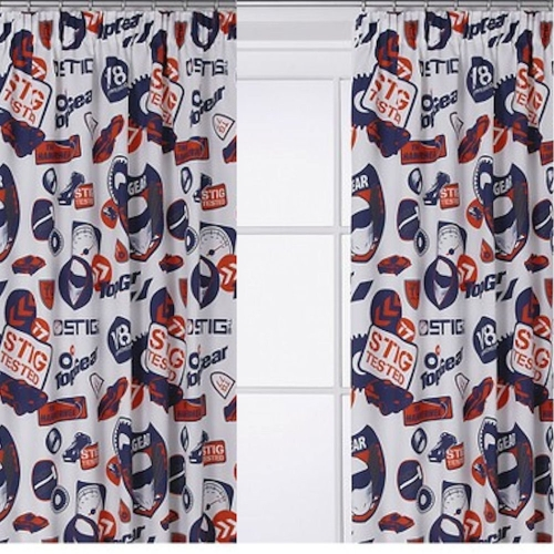 Top Gear 'Tested' 66 X 54 inch Drop Curtain Pair