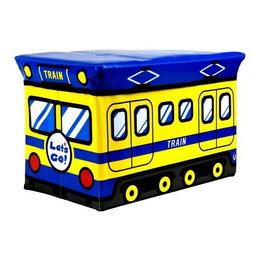 Kids Storage Seat 'Train' Blue Box