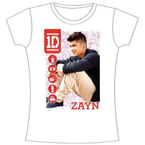 One Direction Zayn Malik Symbolfield Slim Ladies S T Shirt