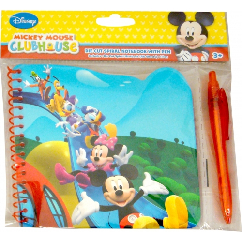 Disney Mickey Mouse Die Cut Notebook with Pen Stationery