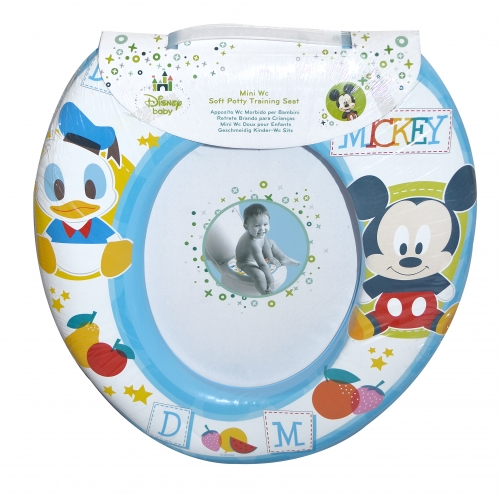 Disney Mickey Mouse 'Blue' Kids Padded Toilet Seat Soft Potty Training Bath