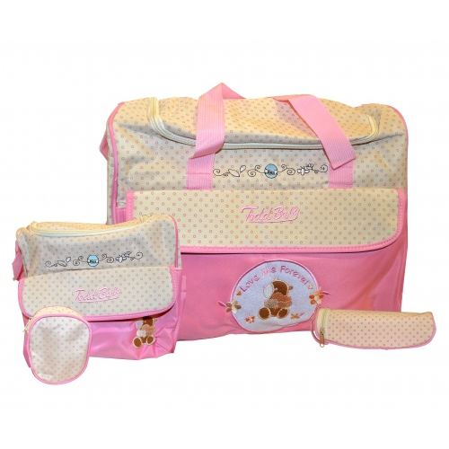 Non Branded Todd Baby Love Me Forever Pink Nappy Changing Bag Care